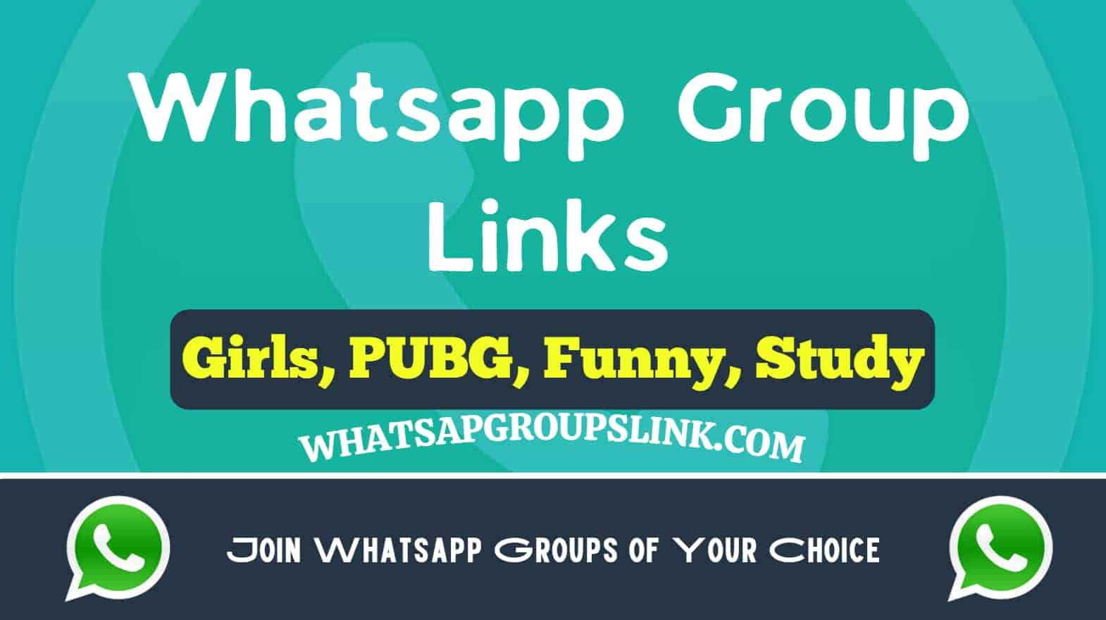Whatsapp group link tag and two whatsapp icon on bottom